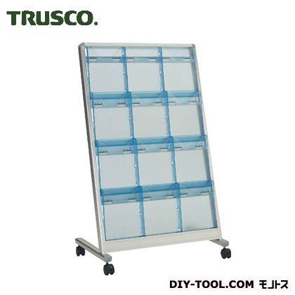 トラスコ(TRUSCO) パンフレットスタンドA4サイズ対応傾斜3列4段 TAP-304K