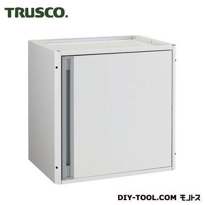 トラスコ カスタムワゴン用 開き戸キャビネット (中棚板付) ホワイト TACTSETW