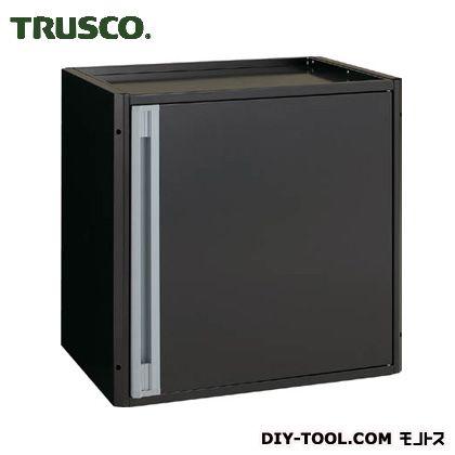 トラスコ カスタムワゴン用 開き戸キャビネット (中棚板付) ブラック TACTSETBK