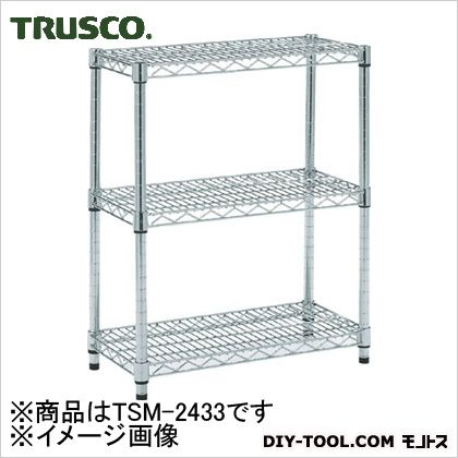 トラスコ(TRUSCO) ステンレス製メッシュラックH745XW1205XD3053段 TSM2433