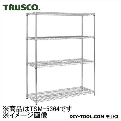 TSM5364 トラスコ(TRUSCO) ステンレス製メッシュラックH1533XW905XD6094段