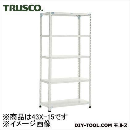 トラスコ 軽量開放棚5段 ネオグレー 875×450×1200H 43X15