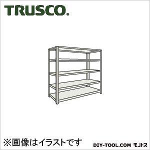トラスコ 軽量開放棚5段 ネオグレー 1500×300×1200H (45V15)