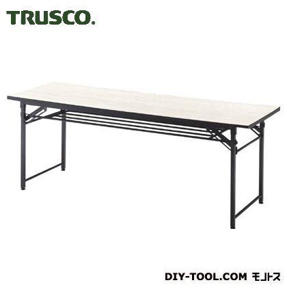 トラスコ 会議テーブル下棚付 アイボリ 1800×600×700 TCT1860