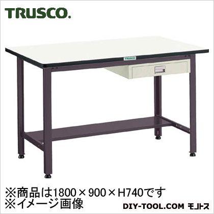 トラスコ 中量500kg作業台鉄天板 薄引出1段 1800×900 AEWS1890UDC1