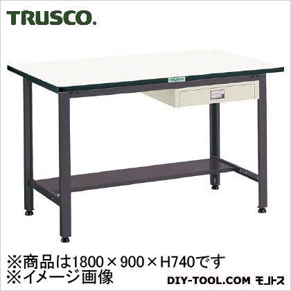 トラスコ 中量500kg作業台ダップ天板 薄引出1段 1800×900 AEWP1890UDC1