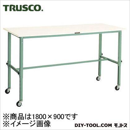 トラスコ 軽量高さ調整作業台75車輪付ポリ天板 1800×900 AEM1809C75