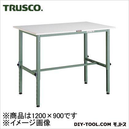 トラスコ 軽量高さ調整作業台ポリ天板 1200×900 AEM1209