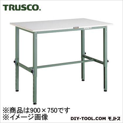 トラスコ 軽量高さ調整作業台ポリ天板 900×750 AEM0975