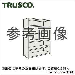 トラスコ 軽量棚背側板付6段 ネオグレー 1500×300×2100H 75V26