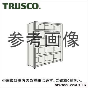 トラスコ 縦仕切付軽量棚3列6段 ネオグレー 875×300×2100 73V36