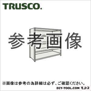 トラスコ 軽量棚背側板付5段 ネオグレー 1200×450×1800H 64X25