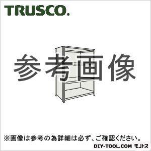 トラスコ 軽量棚背側板付4段 ネオグレー 1200×600×1800H 64W24