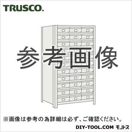 トラスコ 鉄製引出大11段付軽量棚 ネオグレー 875×450×1800 63X812B11