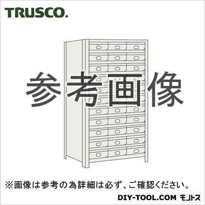 トラスコ 鉄製引出大11段付軽量棚 ネオグレー 875×300×1800 63V812B11