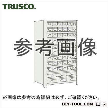 トラスコ 鉄製引出小9大2段付軽量棚 ネオグレー 875×300×1800 63V812A9B2