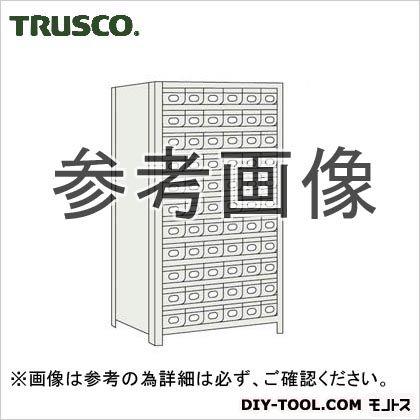 トラスコ 鉄製引出小11段付軽量棚 ネオグレー 875×300×1800 63V812A11