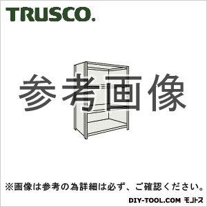 トラスコ 軽量棚背側板付4段 ネオグレー 1800×300×1200H 46V24