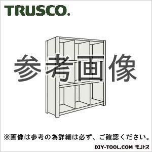 トラスコ 縦仕切付軽量棚3列4段 ネオグレー 875×450×1200 43X34
