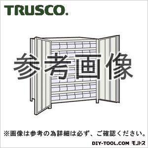 1台 43VT808C7 トラスコ(TRUSCO) NG 軽量棚扉付875X300X1200樹脂引出透明小X42ネオグレ