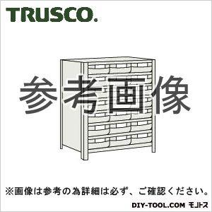 トラスコ 樹脂引出白大7段付軽量棚 ネオグレー 875×300×1200 43V808F7