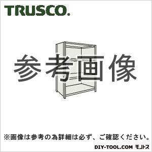 トラスコ 軽量棚背側板付4段 ネオグレー 875×300×1200H (43V24)
