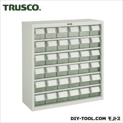 トラスコ(TRUSCO) バンラックケースL型透明引出小X36個H880透明 TM 305L-N36S
