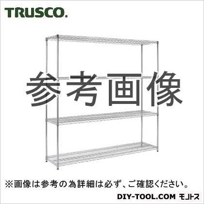 ステンレス製メッシュラックH1838XW905XD6094段 TSM6364 トラスコ(TRUSCO)