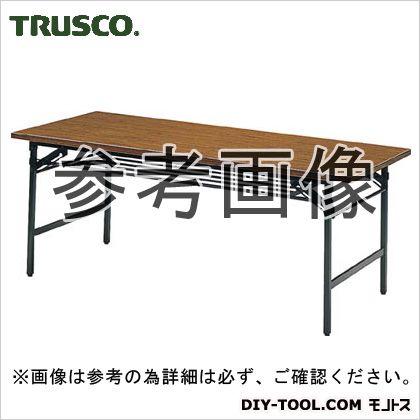 トラスコ(TRUSCO) 折りたたみ会議テーブル1800X900XH700チーク 1820 x 925 x 100 mm