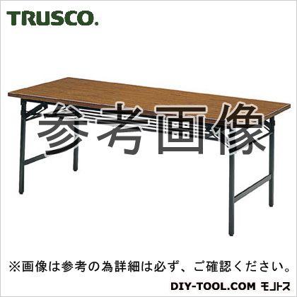 ※法人専用品※トラスコ(TRUSCO) 折りたたみ会議テーブル1200X600XH700チーク 1220 x 630 x 100 mm 1260 1