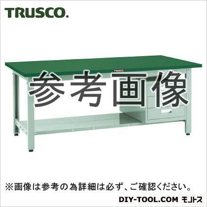 トラスコ スチール天板中量作業台 3段キャビネット付 1800×900 GWS1890D3
