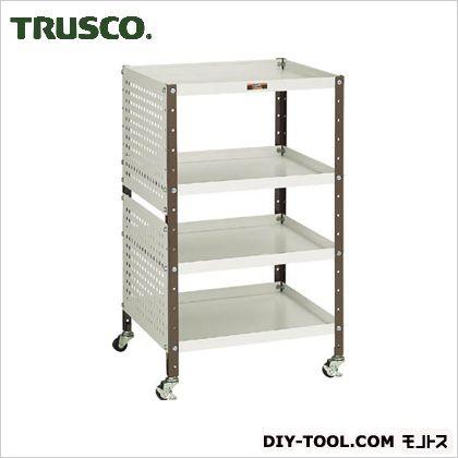 TRUSCO V型ツールワゴン482X420XH7984段Pパネル付 VL-1P2
