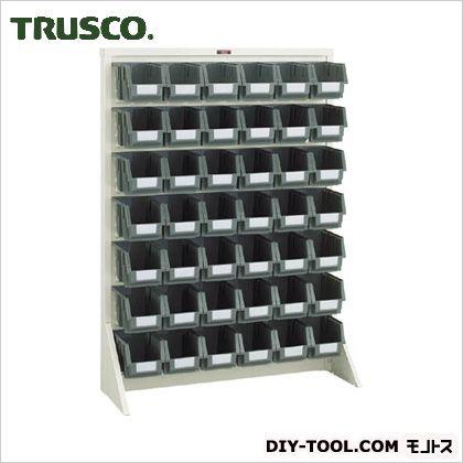 トラスコ パネルコンテナラック片面床置式 ネオグレー 910×320×1240 T1242N