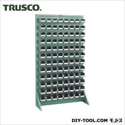 トラスコ パネルコンテナラック片面床置式 緑 910×320×1600 T16128N