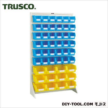 トラスコ パネルコンテナラック片面床置式 ネオグレー 910×320×1600 T1636N