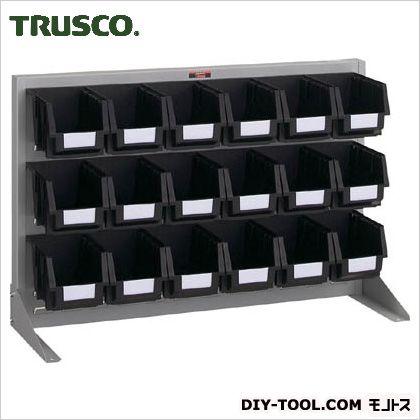 トラスコ 導電性パネルコンテナラック片面卓上式 銀 900×305×600 T0636NE