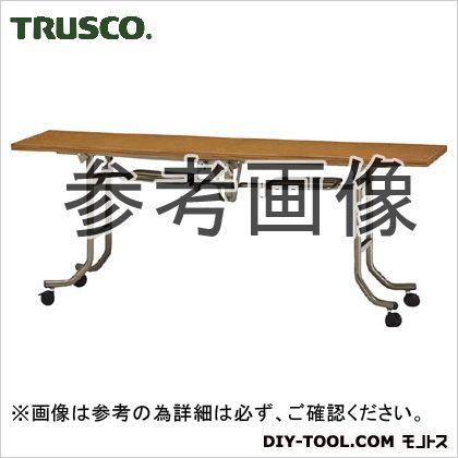 トラスコ 折り畳み式フライトテーブル チーク 1800×600mm FLT1860
