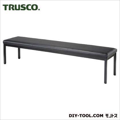 TRUSCO ロビーチェア背なし1800X420X420Hブラック TMC-1844BK