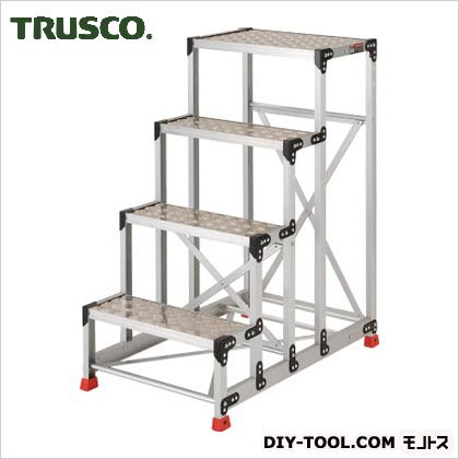 トラスコ アルミ合金製作業台 縞鋼板 600×400×1200 TSFC-4612