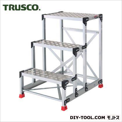 トラスコ アルミ合金製作業台 縞鋼板 600×400×900 TSFC-369