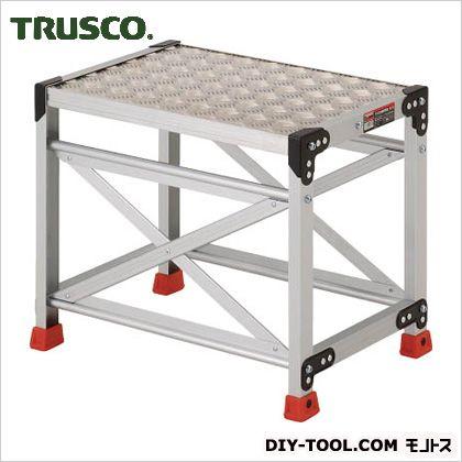 トラスコ アルミ合金製作業台 縞鋼板 600×400×500 (TSFC-165) 作業台 ステンレス作業台 作業 万能作業台