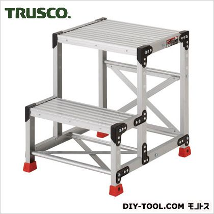 TRUSCO 作業用踏台アルミ製・高強度タイプ2段  TSF-256