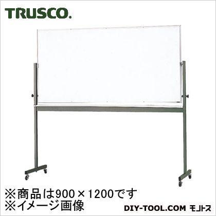 トラスコ 回転ボード 緑×白 900×1200 RG313
