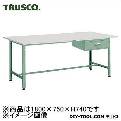 トラスコ(TRUSCO) RAE型作業台1800X750XH7401段引出付 RAE-1800F1