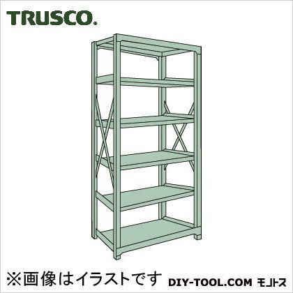 トラスコ R3型ボルト式中量棚 単体6段 1500×900×H2400 R38596