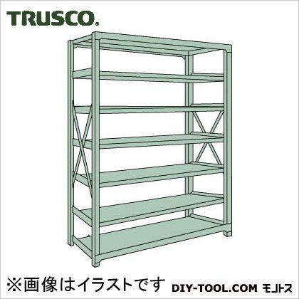 トラスコ R3型ボルト式中量棚 単体7段 900×450×H2400 R38357