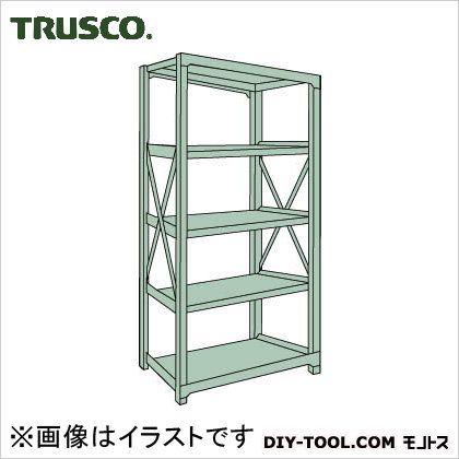 トラスコ R3型ボルト式中量棚 単体5段 1800×900×H2100 R37695