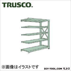 トラスコ R3型ボルト式中量棚 連結5段 1500×450×H2100 R37555B