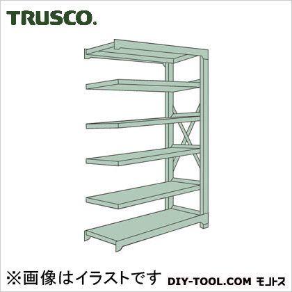 トラスコ R3型ボルト式中量棚 連結6段 1200×450×H2100 R37456B