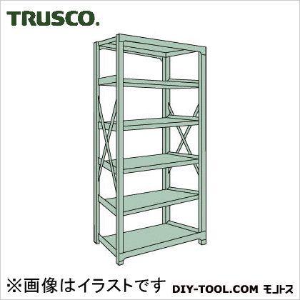 トラスコ R3型ボルト式中量棚 単体6段 1200×450×H2100 R37456